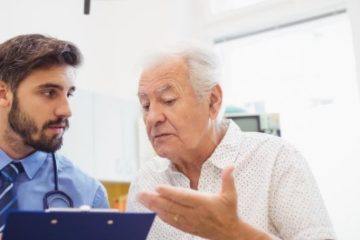 Doctor reviewing results with patient